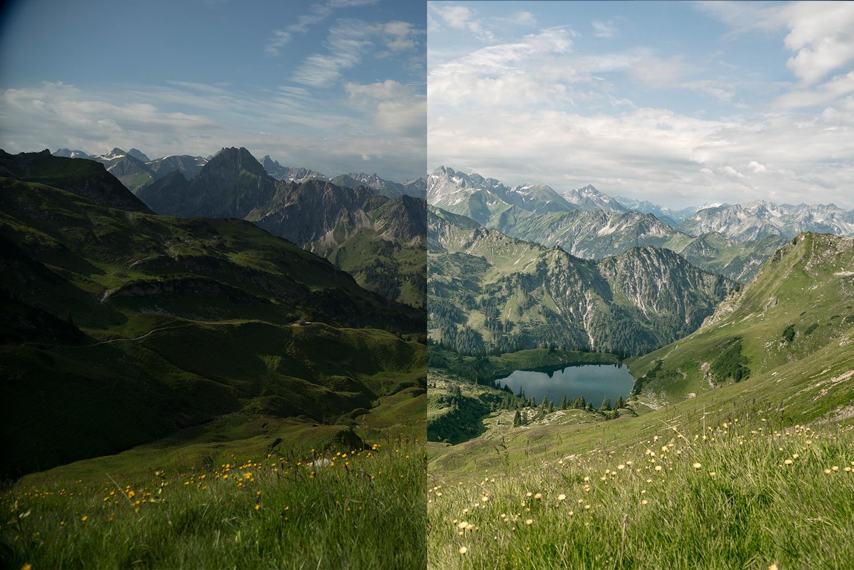 Vergleich korrekte Belichtung und zu dunkler Belichtung