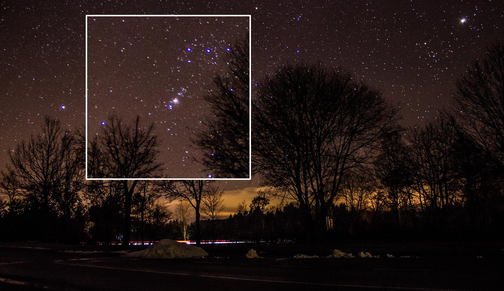 Nachtaufnahme mit hohem ISO lässt Bild unscharf erscheinen