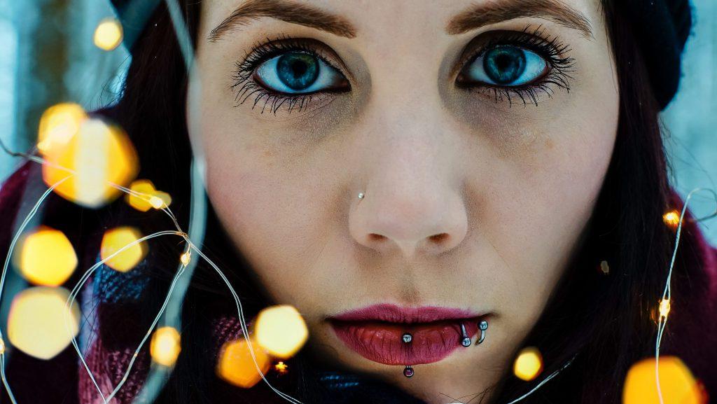 Portrait mit Fairylights